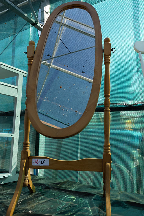 27. Pine freestanding Mirror.