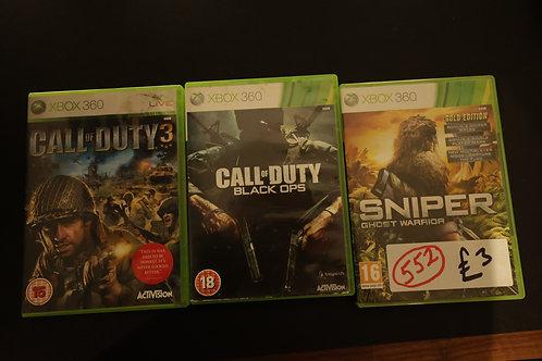 552. 3 x Xbox 360 Games.