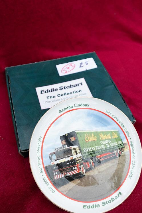 "373. ""Eddie Stobart"" Collectable Plate. ""Gemma Lindsay"""