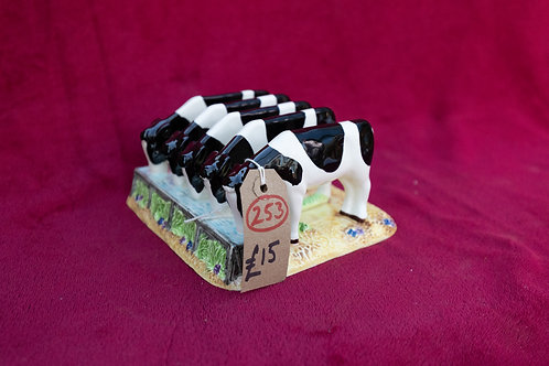 253. James Herriot Country Kitchen, Five Calves Toast Rack. Border Fine Arts.