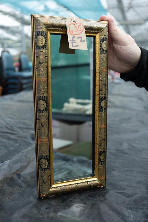 635. Small Mirror, 36cm x 15cm.