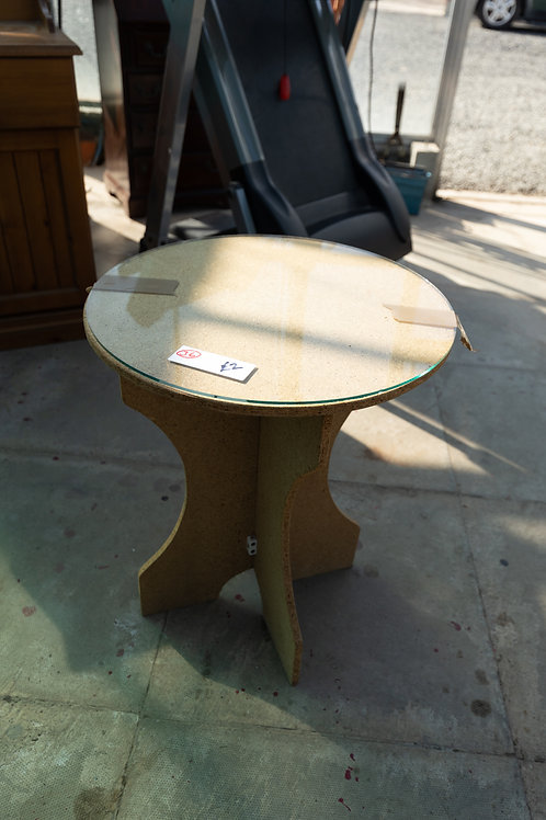 36. Table Base and glass top.