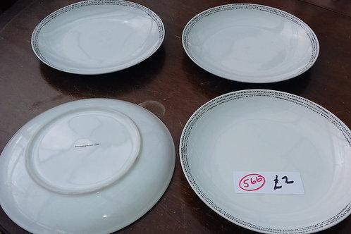 566. 4 x Dinner Plates.
