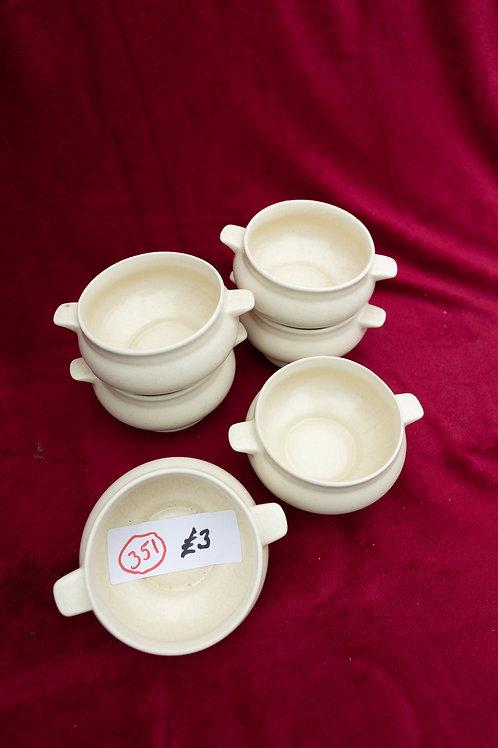 351. 6 x Soup Bowls.