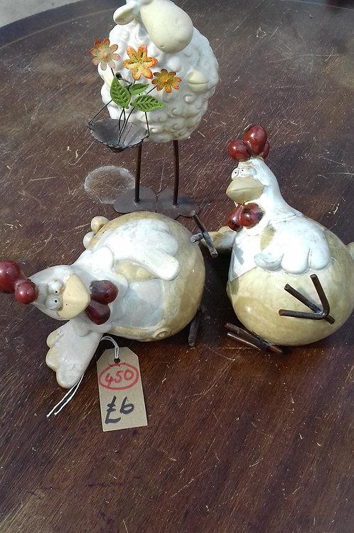 450. Three matching Ornaments