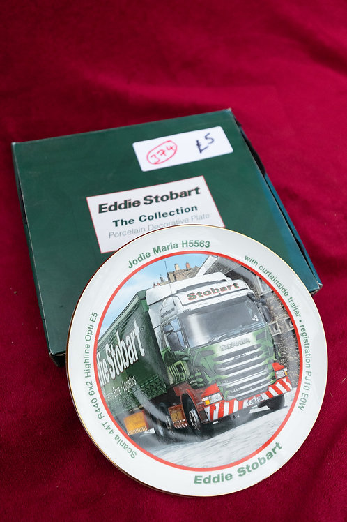 "374. ""Eddie Stobart"" Collectable plate. ""Jodie Maria"" ""H5563"""