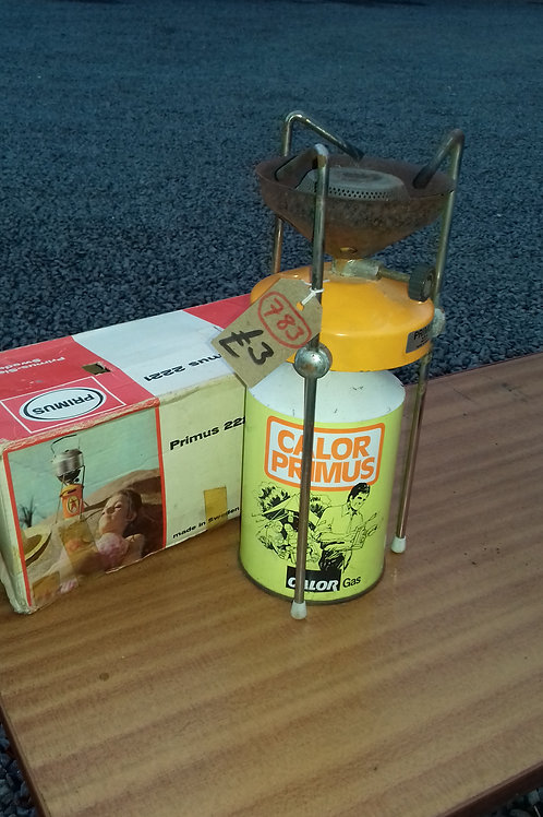 783. Primus Stove and Gas Cannister.