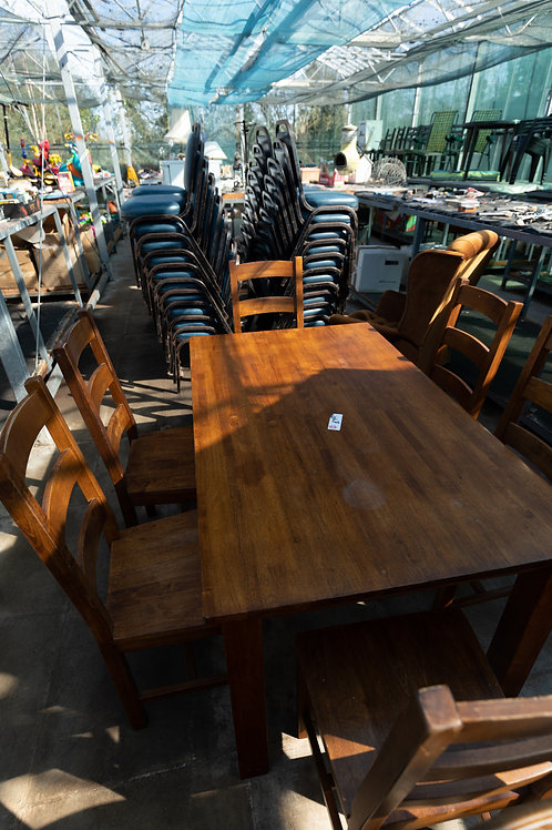 8. Dining table and six chairs.