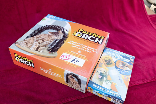 209. Cat Arch Groomer and Pet Nail Trimmer.Both brand new