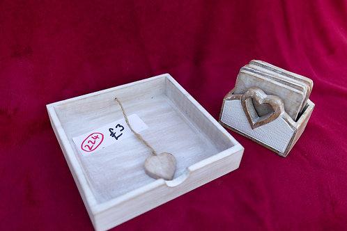 224. Napkin Tray and Coasters