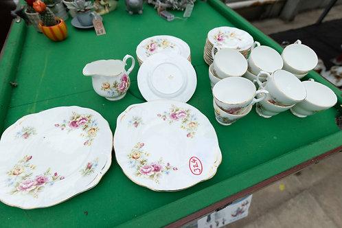 """324. """"Duchess"""" Fine Bone China. 11 x Cups, 12 x Saucers, 12 x Side plates, 1 x M"""