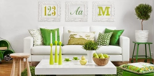 livingroom-decor-color-green-white-yellow-interior-psychology-choose-best fit-personality-home-color-tips-same room-different-scheme
