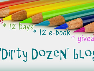 Dirty Dozen Blog Hop – 12 GRL Authors – 12 Question Q&A – 12 e-book giveaway