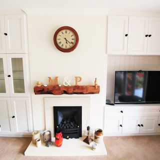 Fitted storage with custom glass shelves