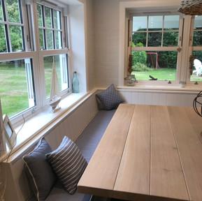 Corner Seat with hidden storage & table