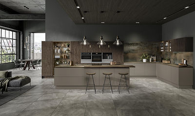 The Volpi Kitchen Range - Stone Grey Metallic Amber
