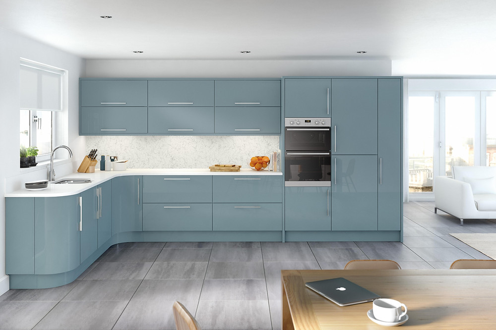 The Alto range, Kitchen design 2021, High Gloss Metallic Blue