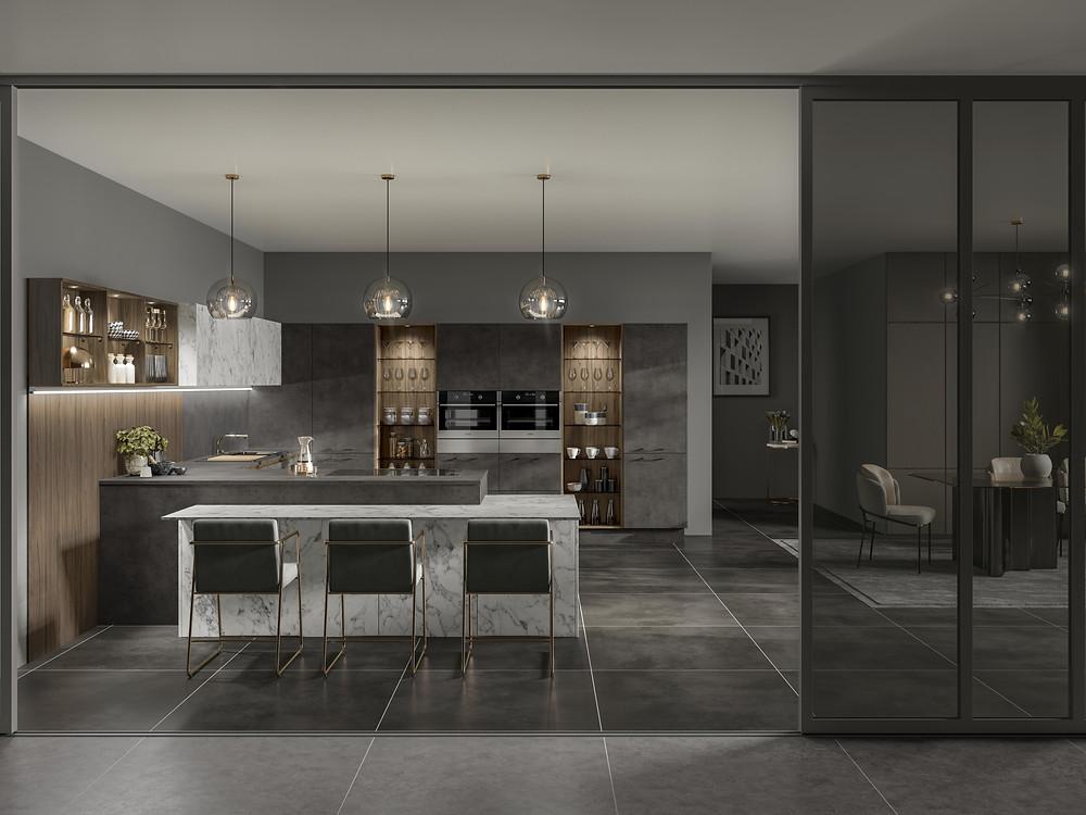 Bespoke Kitchen, Volpi Kitchen Range. Contemporary Kitchen