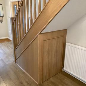Oak Stair Case with under stair storage.