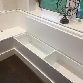 Corner Seat with hidden storage