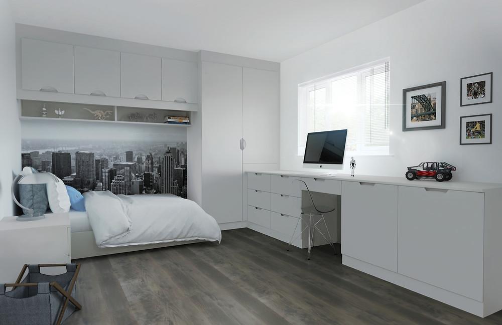 Bedroom with storage, extra storage, bedroom storage