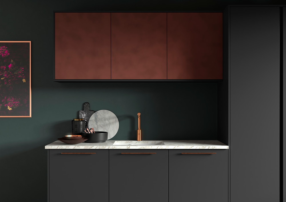 Bronze Tap, Kitchen design 2021, Industrial finishes