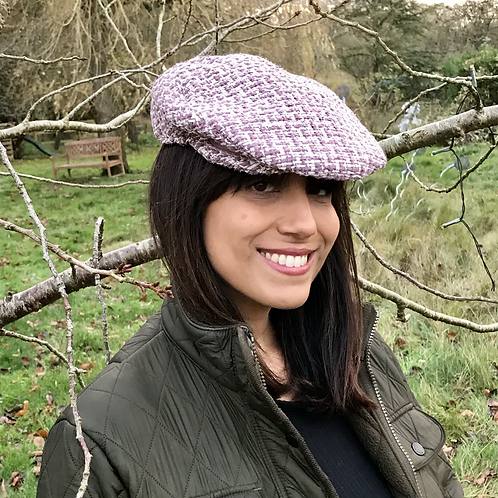 Heather Linton tweed flat cap