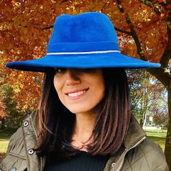 blue silk lined fedora