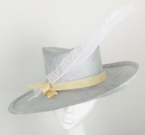 silver wedding races hat