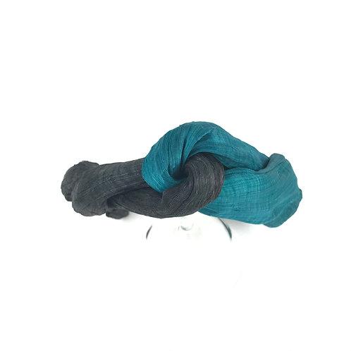 Seagreen and black headband