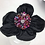 Thumbnail: Rose quartz and black flower clip