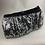 Thumbnail: Silver sequin clutch bag