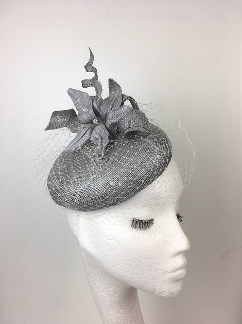 Silver button beret