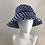 Thumbnail: Royal blue Linton tweed extended bucket hat