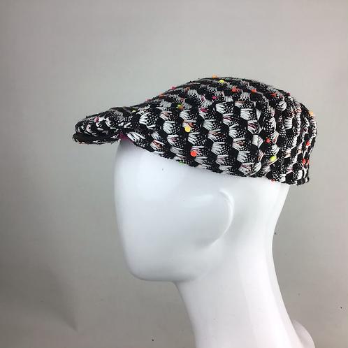 Monochrome flat cap