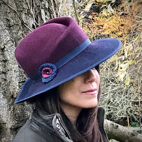 Ombré swirl hat