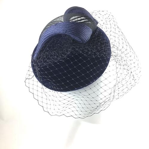 Velvet swirl cocktail beret