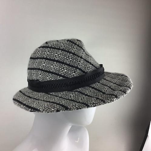 Grey Linton tweed vintage style trilby