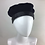 Thumbnail: Navy cashmere and leather beanie beret