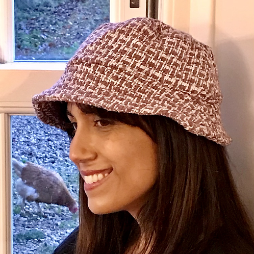 Heather Linton tweed bucket hat