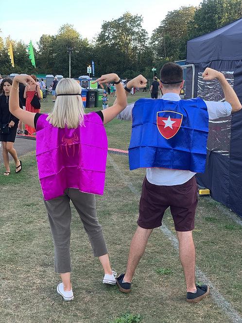 SUPER HERO CAPES & MASK x4