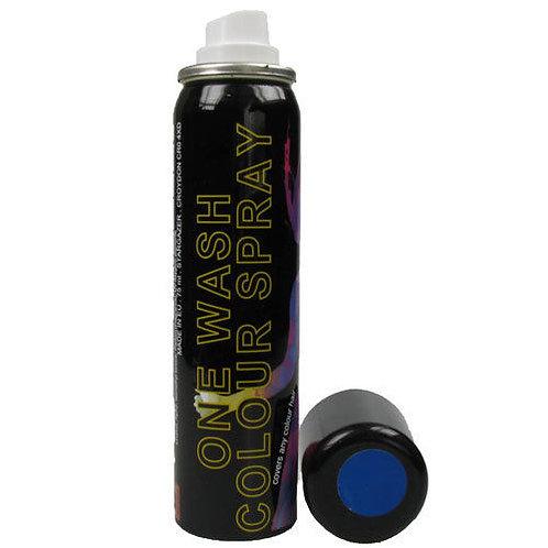 Blue UV ONE WASH hairspray