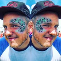 #tbt to _wearefstvl last summer! Edited photo obvs but it looks sick like this! 🙌 #werfstvl _#makeup #festivalfaces #festival #facepaint #fa