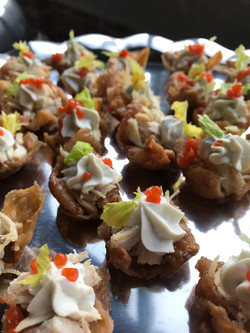 Chicken wing inspired hors d'oeuvres