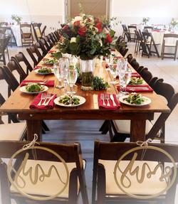 Head Table, Wedding Reception