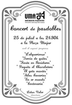 2012 cartell concert pasdobles