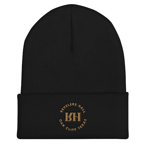Revelers Hall Embroidered Cuffed Beanie