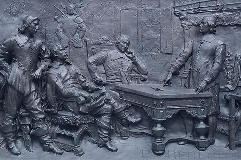 Monument à Maisonneuve, bas relief