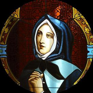 Marguerite Bourgeoys | vitrail | église Saint Willibrorod-Verdun (Montréal) | détail