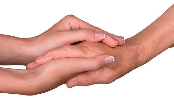 Tendresse et compassion (mains)